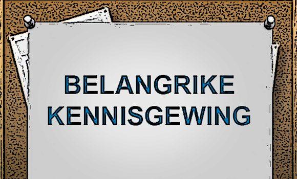 BELANGRIKE KENNISGEWING:  2017 INKOMSTEBELASTINGOPGAWE STELSEL PROBLEEM WAT INDIVIDUE RAAK