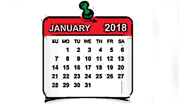THINGS TO DO IN JANUARY……. @Home
